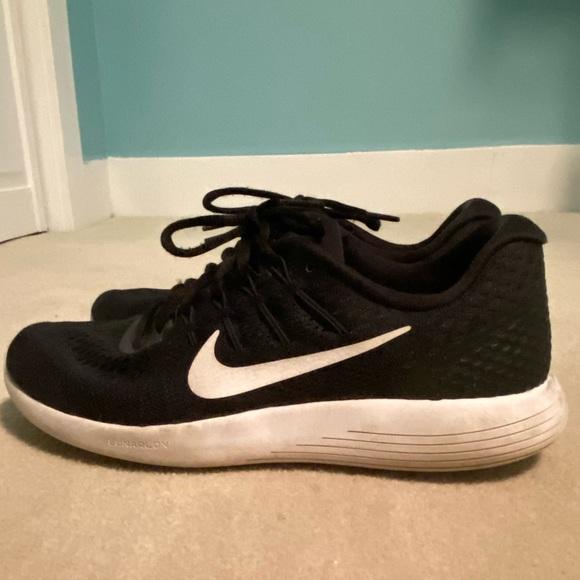 Nike black running shoes, size 9.5